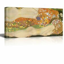 """Water Serpents Ii Water Snakes by Klimt Giclee Canvas Prints- 24"""" x 48"""""""