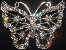 6cms x 5cms DIAMANTE BUTTERFLY BROOCH CAKE TOPPER DECORATION DECORATING