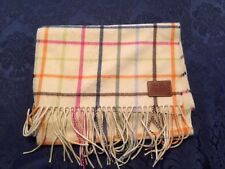 Coach Legacy Ivory Tatterall Cashmere Scarf