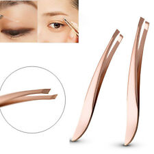 New Women's Stainless Steel  Hair Removal Eyebrow Tweezer Beauty Makeup Tools