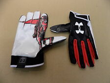 NEW Texas Tech Game Issued Under Armour F3 Football Receiver Sticky Gloves/ XXL