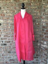 Orvis Womens Pack & Go Travel Rain Trench Coat Jacket Active Wear Pink Sz S / M