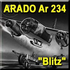 Aircraft Book German Arado AR 234 Blitz WW2 Bomber #128 Nazi Hitler Blitz War It