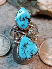 New Ladies Sterling Sleeping Beauty Turquoise Ring Kenneth Jones Size 10 3/4