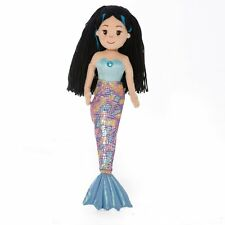 Aurora Mermaid Aqua 18 Inch Plush Toy Soft Cuddly Teddy Kids Brand New Doll