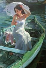 "Vladimir Volegov ""Lakeside Reflection"" SN on Canvas #140/195, 24"" x 32"""