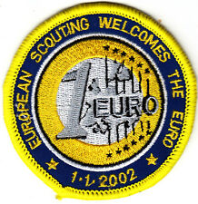 Boy Scout Badge  2002 EUROPEAN SCOUTING WELCOMES the EURO
