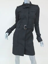 Balenciaga Coat Military-Style with Bow Black Size 38 Gently Worn