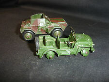 Old Vtg Dinky Toys Military Army Diecast Scout #673 Austin Champ Car LOT