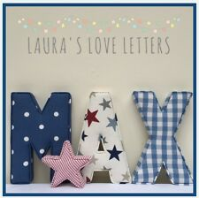 Fabric Letters, baby gift, personalised wall art, girl, boy, nursery
