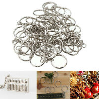 10-100Pcs Keyring Blanks 55mm Key Chains Tone Findings Split Rings 4 Link Chain