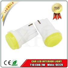 2X T10 COB 1W White Car Backup Reverse LED Light Bulb 921 912 906 168 W5W DC12V