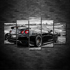 5 Piece Super Sport Car series Nissan GTR Posters Canvas Printing with Framed