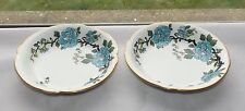 Empire Porcelain Co c1920s Oriental Style Hand Painted Abbury 2 x Shallow Bowls