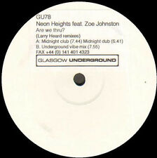 NEON HEIGHTS - Are We Thru? Z. Johnston (Larry Heard Rmxs) - Glasgow Underground
