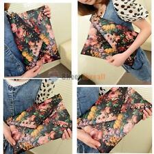 Vintage Oil Rivet Envelope Womens Handbag Clutch Shoulder Bag PU Leather Purse #