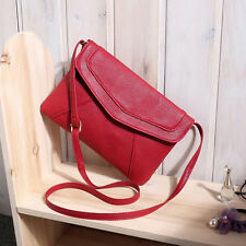 NEW WOMENS CLUTCH HANDBAG LADIES EVENING FAUX LEATHER ENVELOPE PROM PARTY BAG