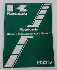 Kawasaki KDX 250 1983 Motorcycle Service Manual NEW