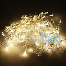 80/100/200LED Christmas Xmas Tree Fairy String Light Outdoor Indoor With UK Plug