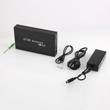 "HDD External Hard Drive Enclosure Case 3.5"" IDE USB 2.0 Support 1TB Design Black"
