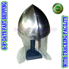 Norman Nasal Helmet with Chain Mail for re-enactment / larp / role-play.