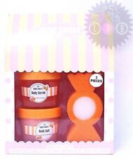SHOP SWEET Body Scrub 3.38oz./Bath Salt 3.52oz./Sponge