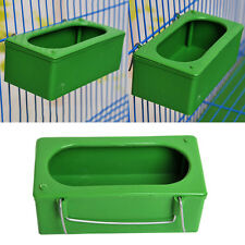 Food Water Bowl Cups Parrot Bathing Pigeons Bird Pets Cage Sand Cup Feeding Box