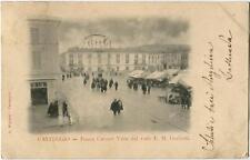 Primi 1900 Casteggio Piazza Cavour viale Giulietti MERCATO FP B/N VG ANIM