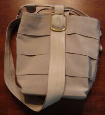 SALVATORE FERRAGAMO Beige Classic Ribbon SHOULDER SLING DRAWSTRING BAG Italy