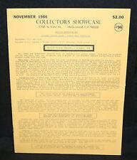 Collector's Showcase #96 Auction Catalog (FN/VF) November 1986
