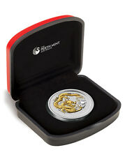 2012 Year of the Dragon 1oz Silver coin GILDED
