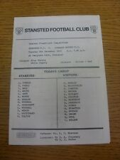 08/12/1992 Stansted v Cornard United [Eastern Floodlight Competition] . Any faul