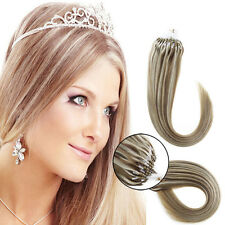 DIY Micro Ring Bead Loop Tip Brazilian Remy Human Hair Extensions 7A 0.5g/s 1g/s
