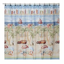 Beach Bums Fabric Shower Curtain by Saturday Knight
