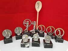 GOLF TROPHIES / GOLF SOCIETY / PRESENTATION ( 10 PIECES ) + FREE WOODEN SPOON**
