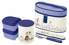 New Skater  Moomin Thermal Lunch box Bento Bowl container set Keep warm Japan