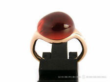 POMELLATO Ring Rouge Passion Tangerine Rotgold 9Kt mand Saphir Groesse 53. NEU!