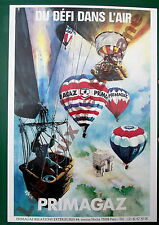 Affiche repro Primagaz du défi dans l'air ballon montgolfiére,Joly illustrateur