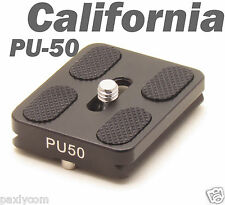 "PU-50 Quick Release Plate Sirui Tripod ball head 1/4"" Screw Arca Swiss QR"