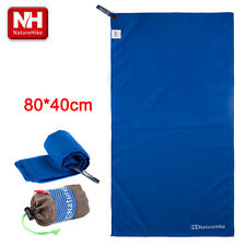 Blue Quick Drying Towel Travel Swim Sports Bath Shower 80*40cm Rafting Kayaking