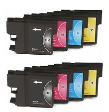 8 x Cartucce di inchiostro lc980 NON-OEM alternativa per BROTHER dcp-197c, dcp197c