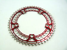 Red Chainring Set Rino Anodized 42 & 53T 144 BCD fits Campagnolo Cranksets NOS