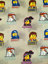"LEGO Emmet Benny Wyldstyle Lord Business Grey FABRIC - L98"" x W38"" inches"
