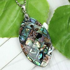 New Mother Of Pearl Mop Natural Abalone Shell Bead Pendant For Necklace Gift
