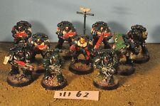 dark angel space marine tactical squad 10 (4 metal) (11162) warhammer 40k