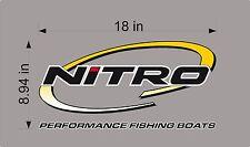"18"" Nitro Boats Logo Decal, vinyl sticker graphic"