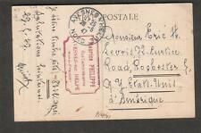 1947 post card France Avesnes-sur-Helpe Maurice Philippe to Rochester NY