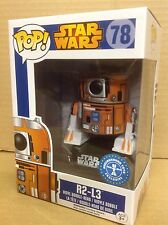 FUNKO POP! Star Wars R2-L3 #78 UT Exclusive Bobble-Head Vinyl Figure *Brand New*