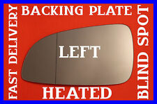 VAUXHALL ASTRA H TWINTOP 2004-08 LEFT DOOR WING MIRROR GLASS HEATED + BACK PLATE