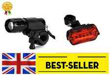 front rear led lights set - bright lamp led road city bike cycle UK STOCK